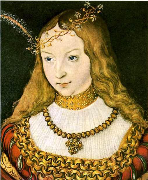 Лукас Кранах. Портрет Сивиллы фон Клеве. 1526