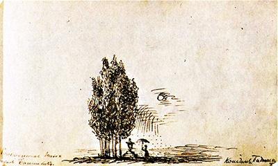 рисунок Батюшкова