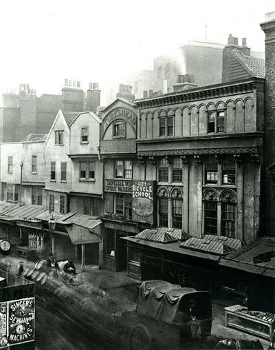 London. Shambles in Aldgate. 1883
