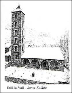 церковь св. Евлалии, 1300 м. над уровнем моря