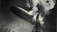 """Взрыв цеппелина """"Гинденбург"""" . Фотография Сэма Шира"""