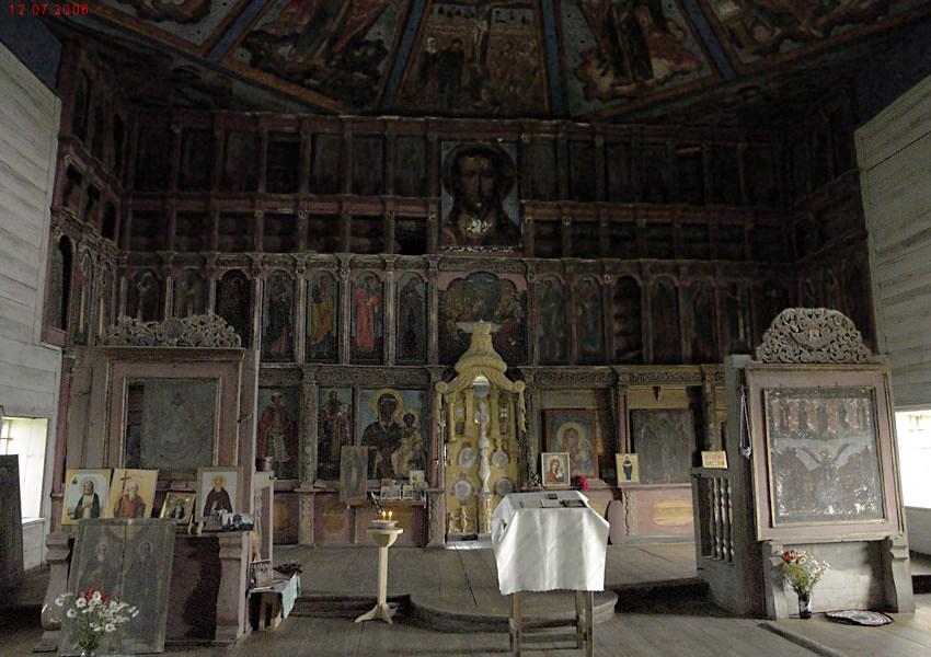 Иконостас. Покрово-Власьевская церковь, Лядинский погост.