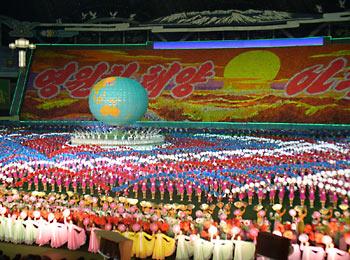 Массовые игры в Северной Корее.
