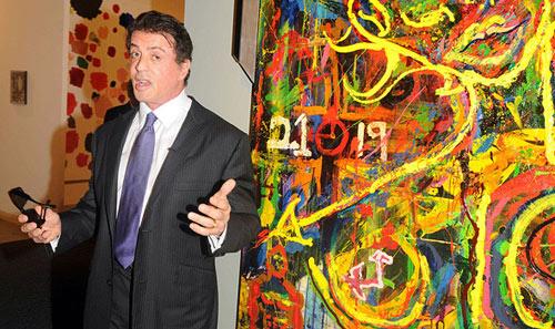 Выставка живописи Сильвестра Сталлоне открывается в Русском музее.