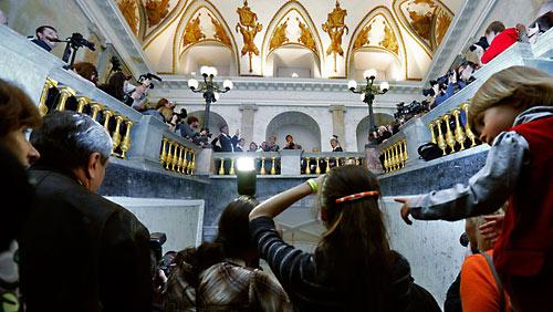 Сталлоне в Русском музее.