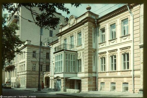 Музей Ермоловой на Тверском бульваре в Москве. Реставрация В. И. Якубени.